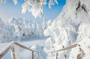 Фото бесплатно после снегопада, снег, сугробы