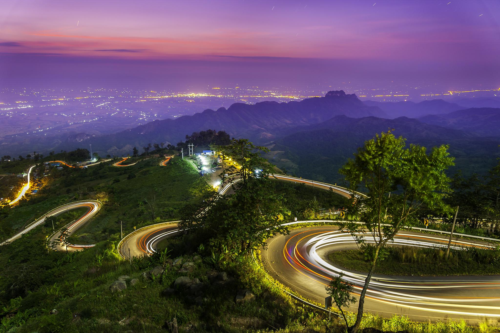 Таиланд, трасса, огни
