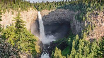 Фото бесплатно водопад, вода, природа