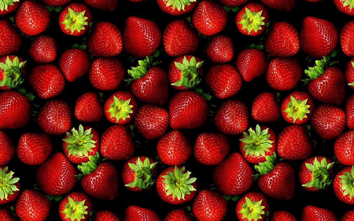 Фото бесплатно зеленое, клубника, красный - на рабочий стол