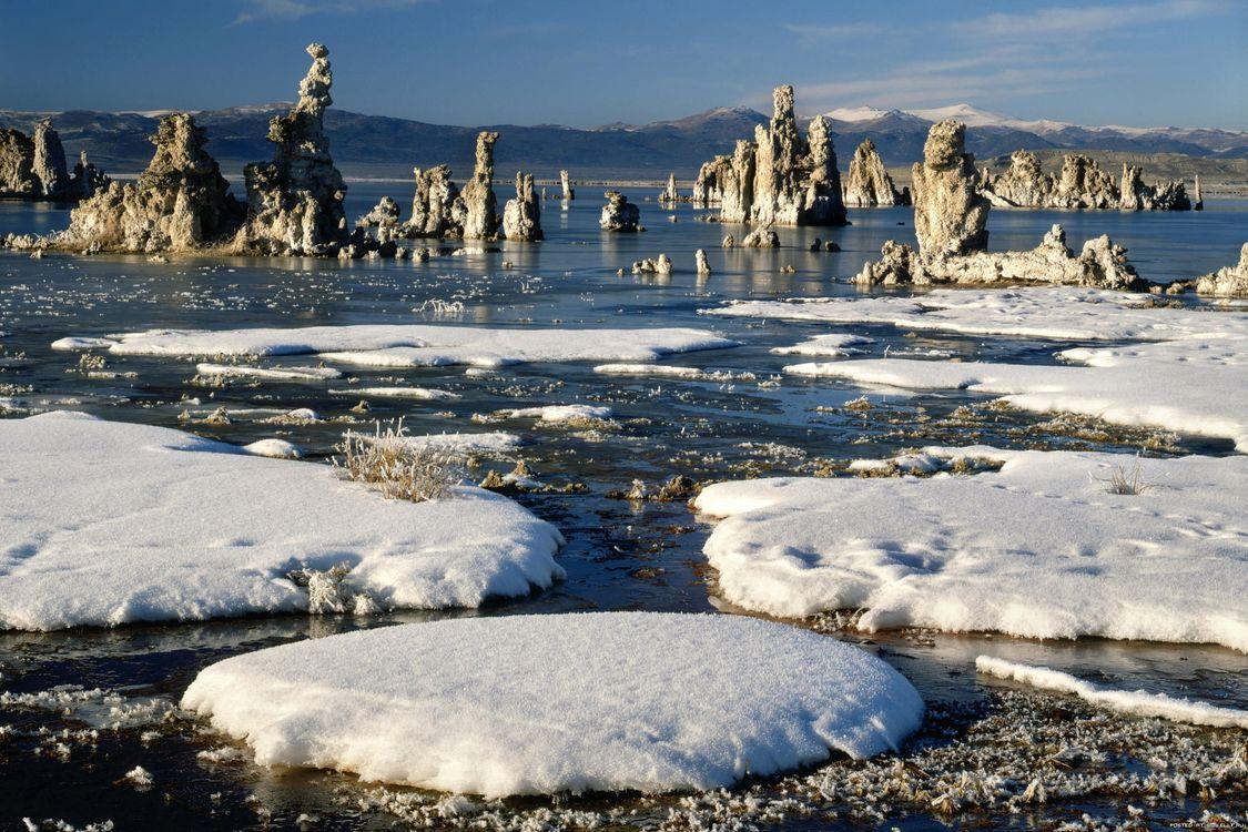 Фото бесплатно пейзаж, вода, сніг - на рабочий стол