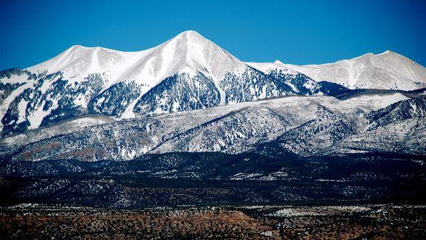 Фото бесплатно горы, снег, хребет
