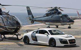 Бесплатные фото ауди,белый,палуба,вертолеты,море,небо,машины