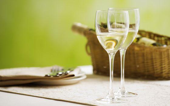 Photo free glasses, wine glasses, champagne