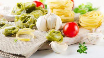 Фото бесплатно чеснок, помидора, томат