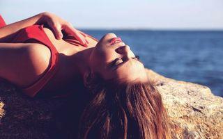 Фото бесплатно девушка, пляж, море