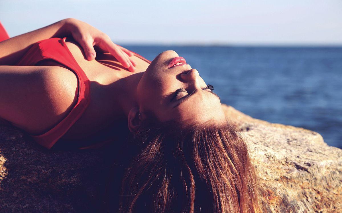Фото бесплатно девушка, пляж, море - на рабочий стол