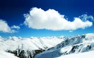 Бесплатные фото горы,высота,вершины,снег,небо,облака,природа