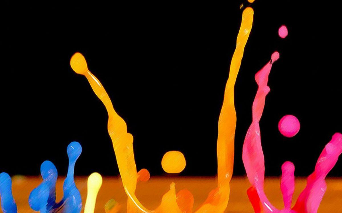 Фото бесплатно капли, жидкость, вода, цвета, синий, желтый, розовый, черный, брызги, разное, разное