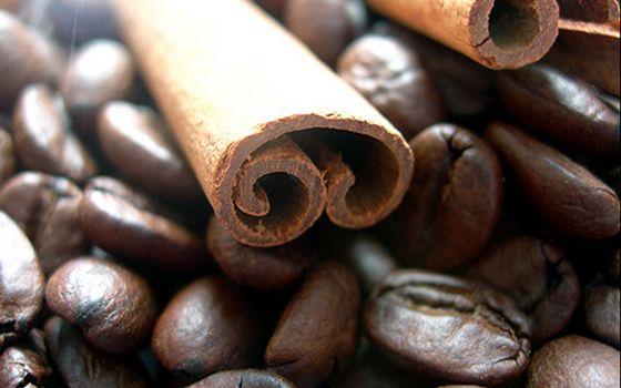 Фото бесплатно кофе, зерна, корица