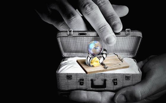 Фото бесплатно кольцо, земля, чемодан