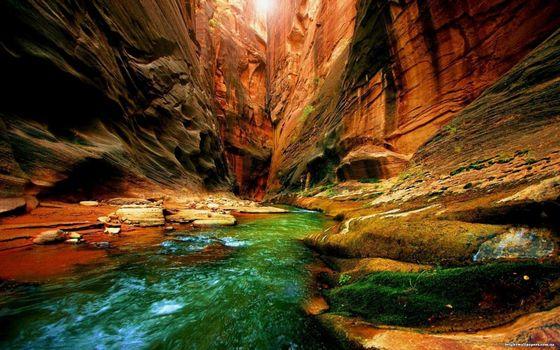 Фото бесплатно коньен, река, горы, скалы, ущелье, вода, течение, поток, камн, природа