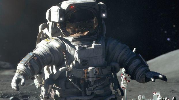 Бесплатные фото космонавт,скафандр,шлем,небо,черное,руки,космос