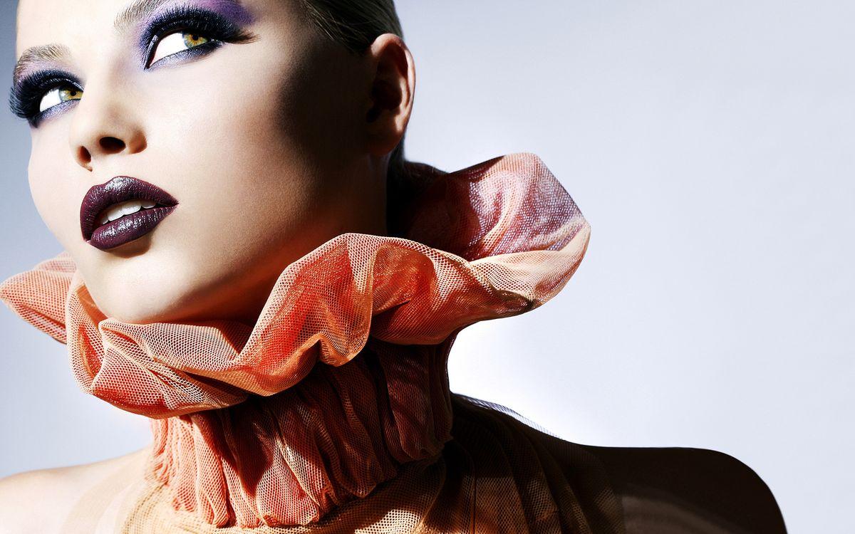 Фото бесплатно модель, макияж, лицо - на рабочий стол