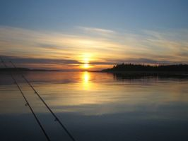 Фото бесплатно закат, Набережная, озеро
