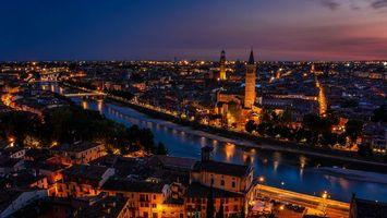Бесплатные фото ночь, дома, улицы, фонари, свет, река, мост