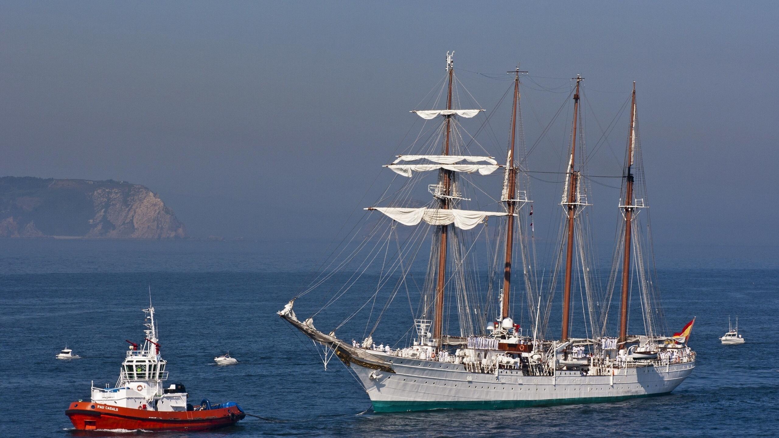 океан, корабль, буксир