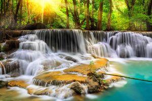 Заставки река, водопад, камни