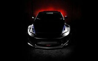 Фото бесплатно тачка, черная, фары, светодиоды, зеркала, свет, красный, машины
