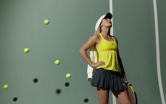Photo free balls, tennis player, Wozniacki caroline