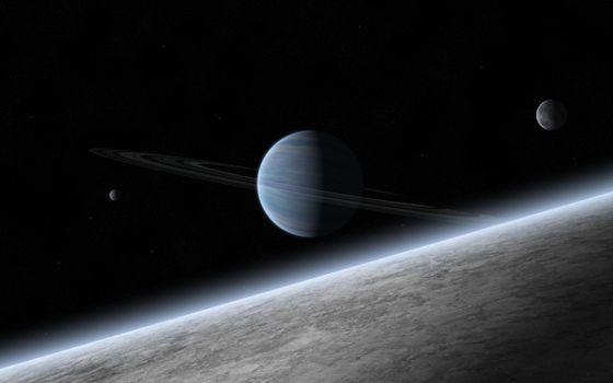 атмосфера, планета, кольца, газовый гигант, спутники