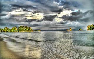 Бесплатные фото берег,песок,море,волны,острова,небо,облака