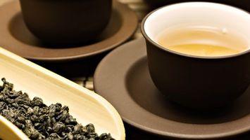 Фото бесплатно чай, листья, тарелка
