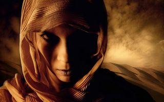 Фото бесплатно девушка, пустыня, песок