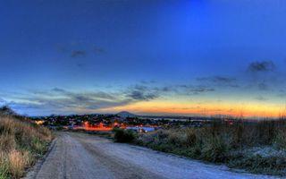 Фото бесплатно дорога, трава, город