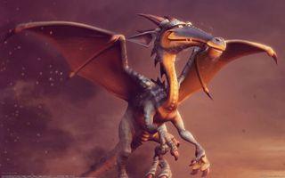 Бесплатные фото дракон,крылья,голова,герой,мультик,зубы,дым