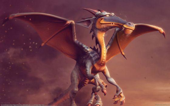 Фото бесплатно дракон, крылья, голова