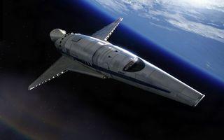 Обои космический корабль, планета, земля, железо, газ, шаттл, крылья, нос, кабина, невесомость, спутник, звезды
