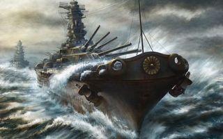 Бесплатные фото море,вода,шторм,волны,корабль,военный,пушки