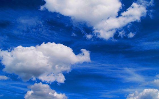 Заставки белый, синий, облака