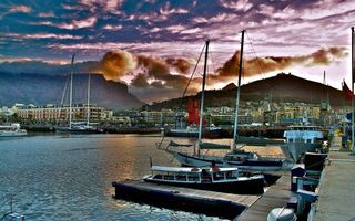 Бесплатные фото небо,облака,горы,лодки,яхты,парус,причал