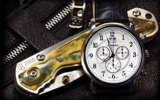 Обои нож, перочинный, часы, циферблат, стрелки, замок молния, стиль
