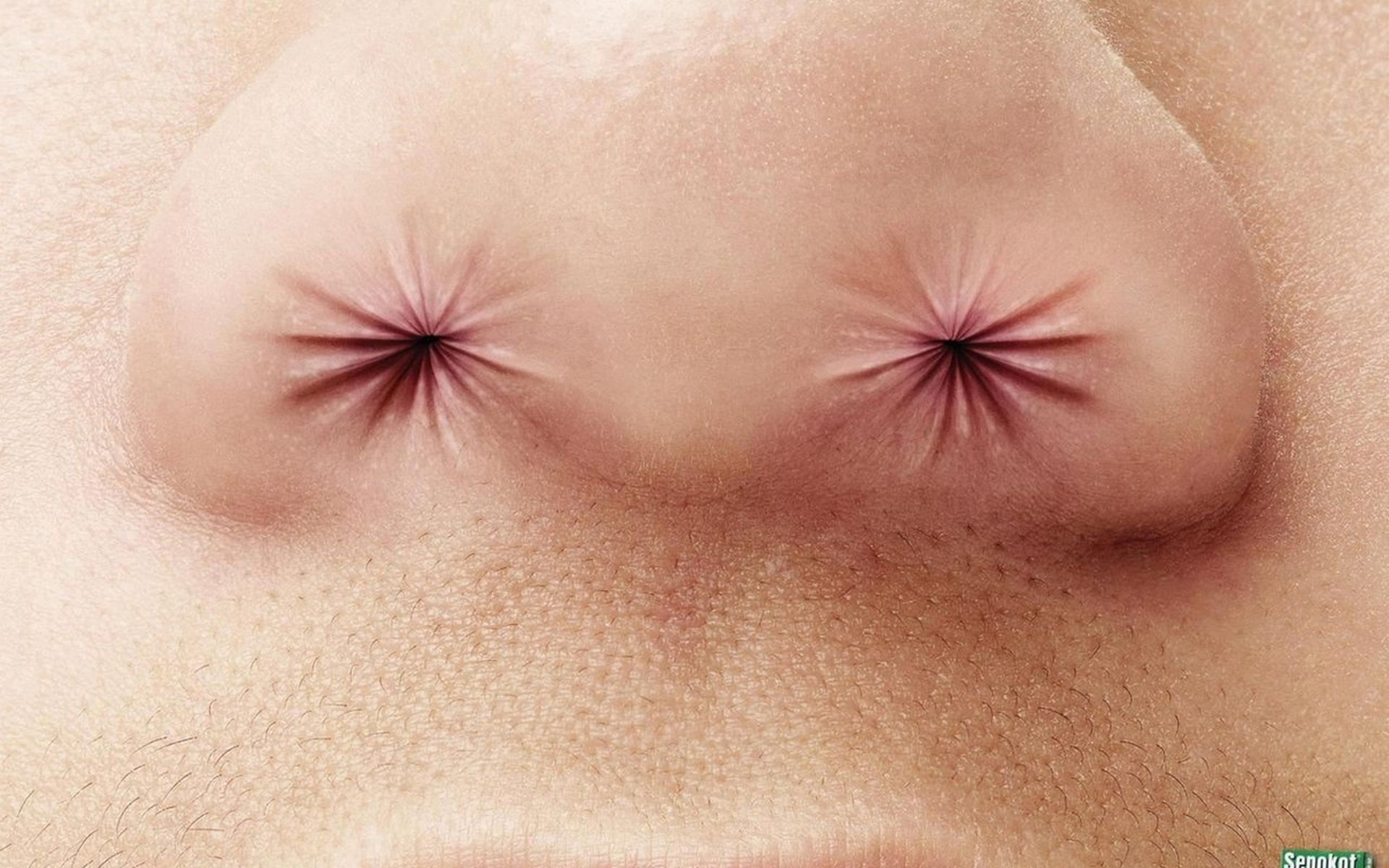 нос, пазухи, губы