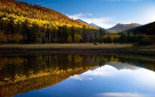 Бесплатные фото озеро,вода,горы,небо,трава,облака,природа