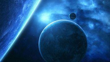 Бесплатные фото планета,земля,спутник,луна,звезды,туман,газ