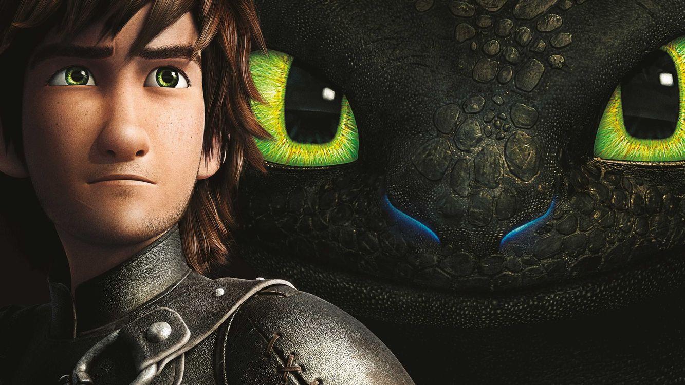 Фото бесплатно приручить, дракона, глаза, зеленые, парень, кожа, мультфильмы, мультфильмы