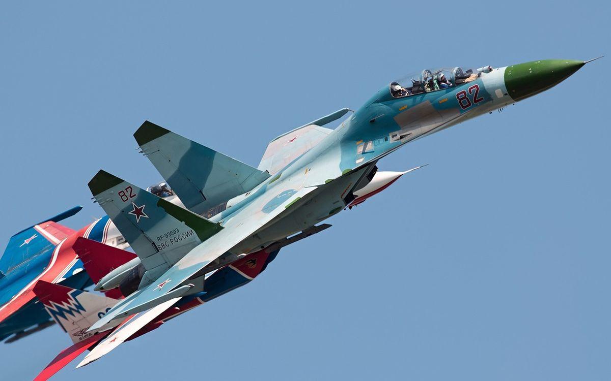 Фото бесплатно су-34, самолет, истребитель - на рабочий стол