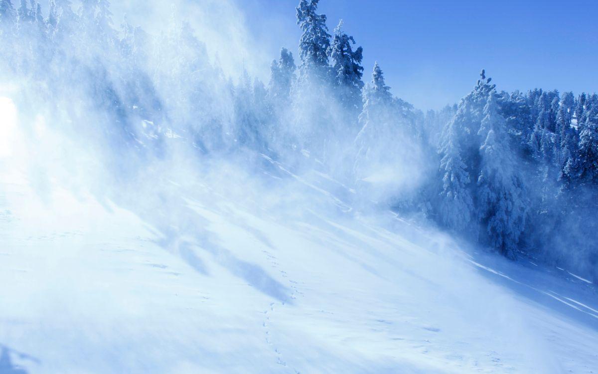 Фото бесплатно снег, снежинки, спуск - на рабочий стол