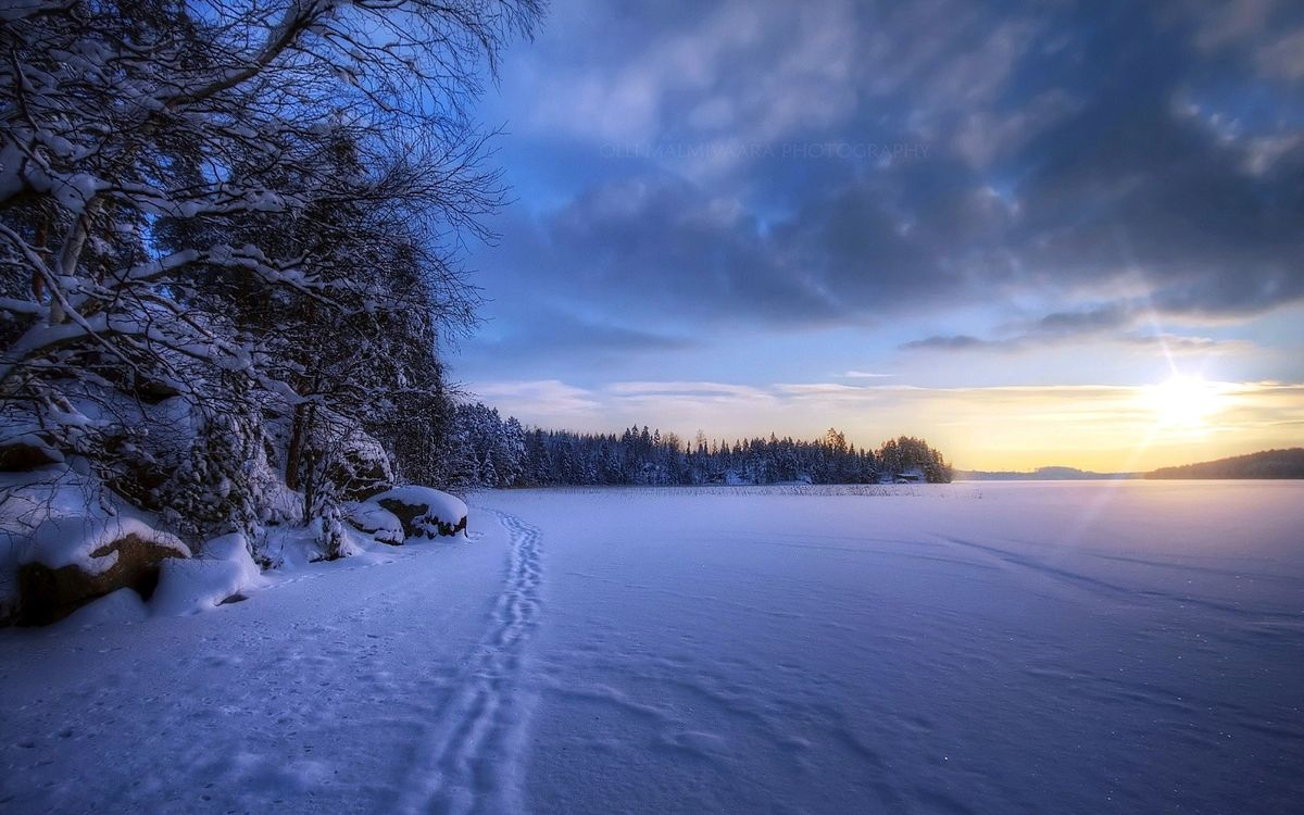 Фото бесплатно закат, солнце, зима - на рабочий стол