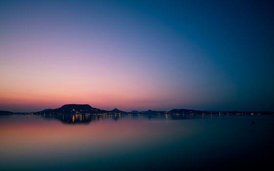 Фото бесплатно закат, вид, море