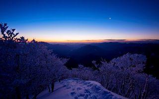 Заставки зимний, пейзаж, гора