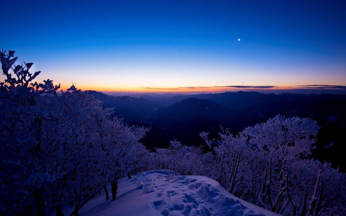 Фото бесплатно зимний, пейзаж, гора - на рабочий стол