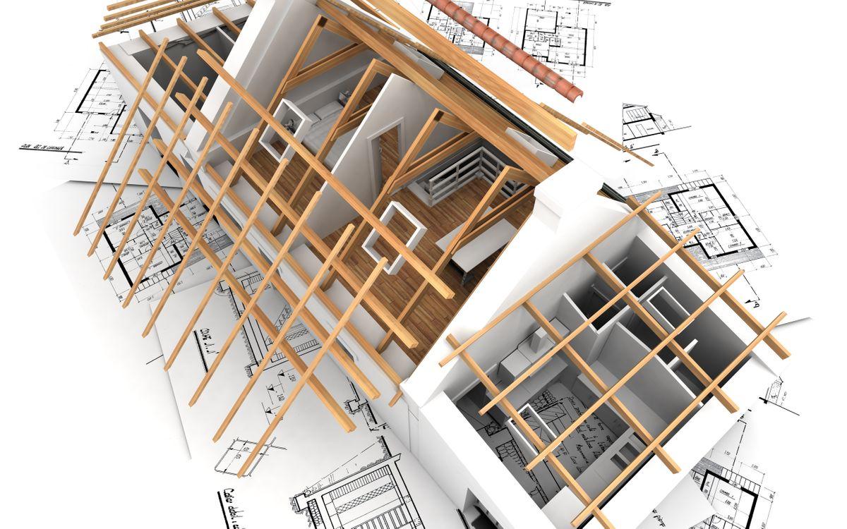 Фото бесплатно дом, модель. разработка, чертежи, инженерия, 3d графика, рендеринг, рендеринг