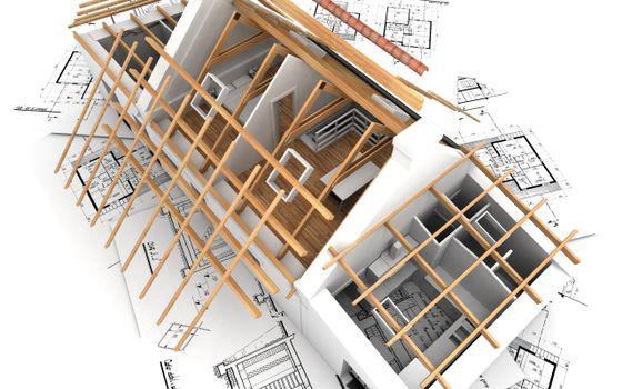Бесплатные фото дом,модель. разработка,чертежи,инженерия,3d графика,рендеринг