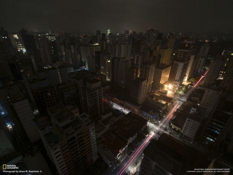 Фото бесплатно перекресток, дома, небоскреб