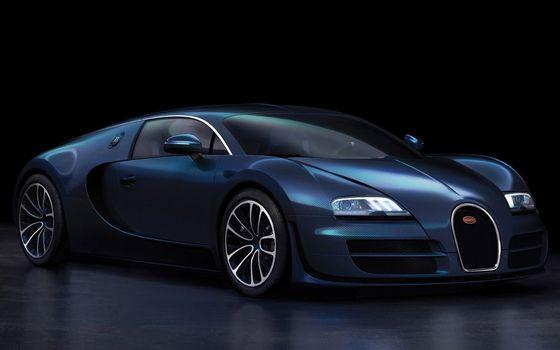 Фото бесплатно bugatti, синий, супер